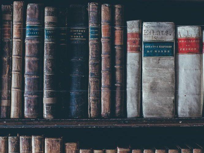 Antikvariat med fantastiska böcker